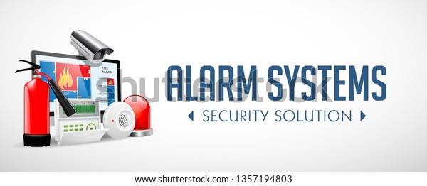 Access Control System Fire Alarm Security Stock Image
