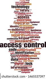 Access control word cloud concept. Collage made of words about access control. Vector illustration