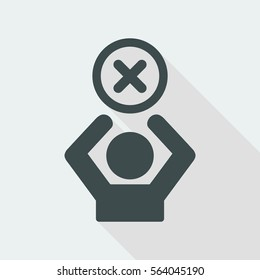 Access denied - Privacy concept - Vector web icon
