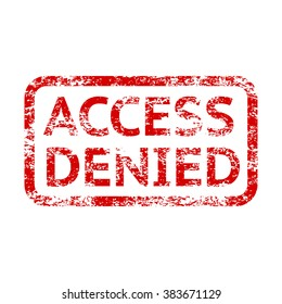 Access denied rubber grungy stamp