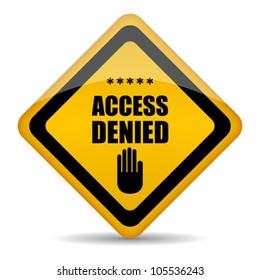 Access denied vector sign, eps10 illustration