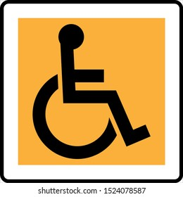 Access Icon Design (Disabled Handicap Symbol) Vector Art Illustration