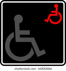 Access Icon (Disabled Handicap Symbol) Vector Illustration