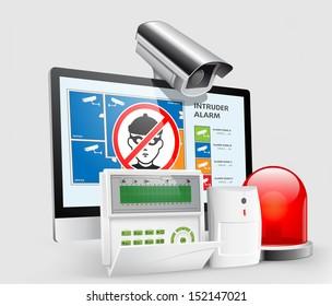 Access - Intruder alarm, CCTV security - alarm system
