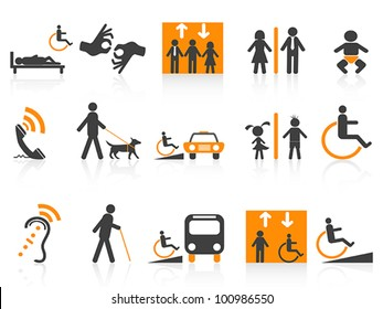 Accessibility icons set