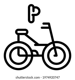 Accessible eletric bike icon. Outline Accessible eletric bike vector icon for web design isolated on white background