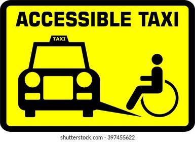 Accessible taxi. Disabled. Senior. Access