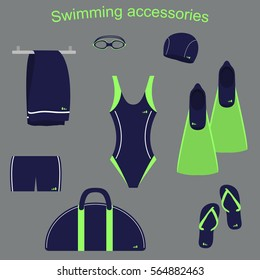 accessories and clothing for swimming pools