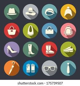 Accessories icon set