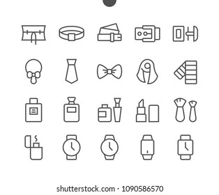 Accessories UI Pixel Perfect Well-crafted Vector Thin Line Icons 48x48 Grid for Web Graphics and Apps. Simple Minimal Pictogram Part 3-3