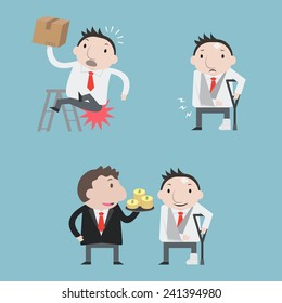 Accident businessman - Vector