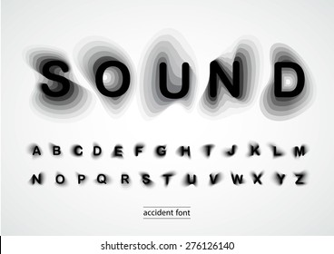 Accident font