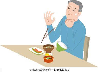 Accidents at home in the elderly. Clogged up food.