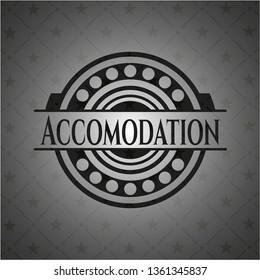 Accomodation dark badge