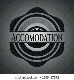 Accomodation dark emblem. Vector Illustration. Detailed.