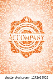 Accompany orange mosaic emblem