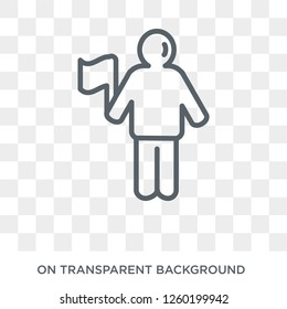 accomplished human icon. Trendy flat vector accomplished human icon on transparent background from Feelings collection. High quality filled accomplished human symbol use for web and mobile