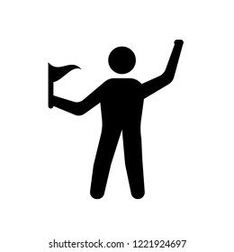 accomplished human icon. Trendy accomplished human logo concept on white background from Feelings collection. Suitable for use on web apps, mobile apps and print media.