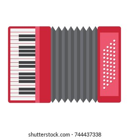 Accordion flat icon, music and instrument, sound sign vector graphics, a colorful solid pattern on a white background, eps 10.