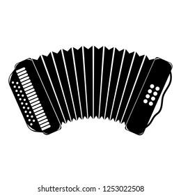 Accordion Flat Icon. Vector Illustration.