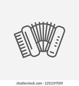 Accordion icon line symbol. Isolated vector illustration of  icon sign concept for your web site mobile app logo UI design.