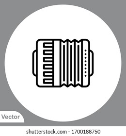 Accordion icon sign vector,Symbol, logo illustration for web and mobile