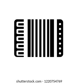 Accordion icon. Trendy Accordion logo concept on white background from Music collection. Suitable for use on web apps, mobile apps and print media.