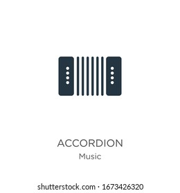 Accordion icon vector. Trendy flat accordion icon from music collection isolated on white background. Vector illustration can be used for web and mobile graphic design, logo, eps10