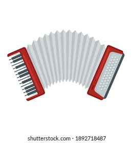 accordion instrument design, Music sound melody and song theme Vector illustration