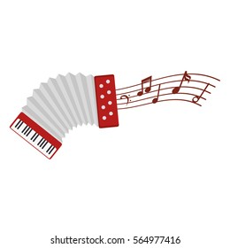 accordion instrument isolated icon