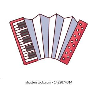 accordion instrument music isolated icon