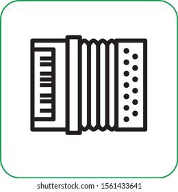 accordion instrument music vector icon