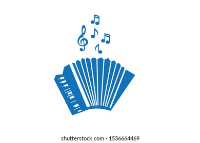 accordion instrument musical icon vector isolate