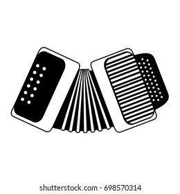 accordion musical instrument icon image