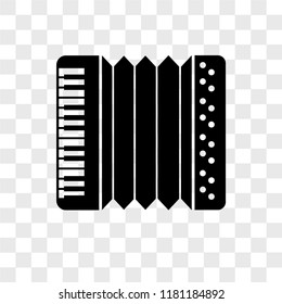 Accordion vector icon isolated on transparent background, Accordion logo concept