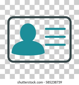 Account Card icon. Vector illustration style is flat iconic bicolor symbol, soft blue colors, transparent background. Designed for web and software interfaces.