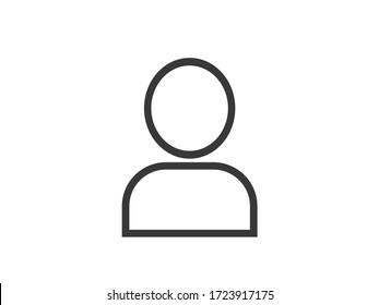 Account icon. Profile vector icon.  Man icon.