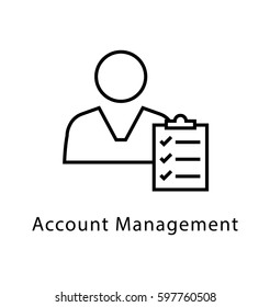 Account Management Vector Line Icon