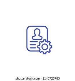 account settings line icon