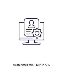account settings line icon, vector
