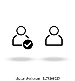 Account vector icon.