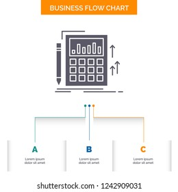 accounting audit banking calculation calculator business flow chart design with 3 steps