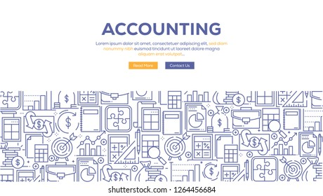 ACCOUNTING BANNER CONCEPT