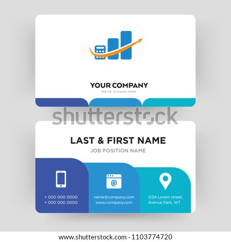 Accounting business card design template visiting stock vector accounting business card design template visiting for your company modern creative and clean flashek Gallery