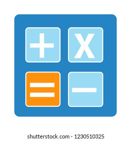 accounting calculator isolated vector - mathematics calculation illustration sign . finance digital digital sign symbol