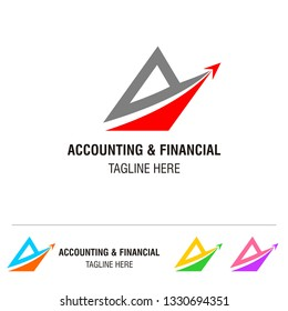 accounting financial logo template, business logotype, icon and vector