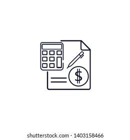 accounting icon. Vector illustration. Finance icon