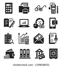 Accounting international day icon set. Simple set of accounting international day vector icons for web design on white background