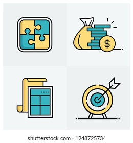 ACCOUNTING LINE ICON SET