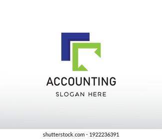 accounting logo creative logo simple symbol logo arrow